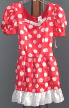 Disney Minnie Mouse Womens Costume Dress Size 4 6 Glittered Disguise Inc  #Disney #Dress #CosPlay