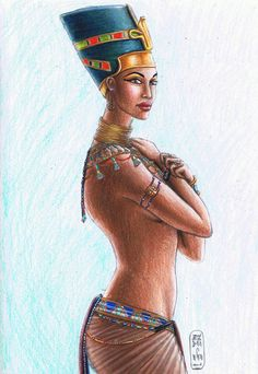 Nefertiti was the Great Royal Wife (chief consort) of the Egyptian Pharaoh Akhenaten. Nefertiti and her husband were known for a religious revolution, in which they worshiped one god only, Aten, or the sun disc.  Nefertiti had many titles including Hereditary Princess; Great of Praises; Lady of Grace, Sweet of Love; Lady of The Two Lands; Main King's Wife, his beloved; Great King's Wife, his beloved, Lady of all Women and Mistress of Upper and Lower Egypt