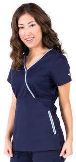 Imagen relacionada Medical Scrubs, Nursing Scrubs, Healthcare Uniforms, Stylish Scrubs, Lab Coats, Filipina, Office Ladies, Scrub Tops, Work Wear