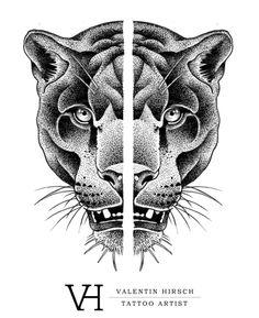 Valentin Hirsch — Panther tattoo