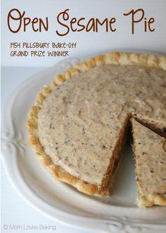 #6 - Open Sesame Pie won the Pillsbury Bake-Off in 1954. #pie
