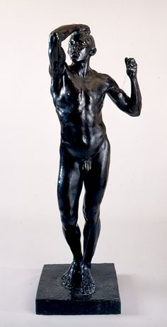 Title: The Age of Bronze  Artist: Auguste Rodin  Region: France  Period: 1875-1876  Material: bronze  Dimensions: 71 in. high   On view in the museum