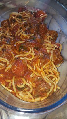 Think Food, I Love Food, Good Food, Yummy Food, Spaghetti Bolognaise, Snap Food, Food Snapchat, Cooking Recipes, Healthy Recipes