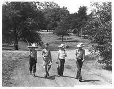 Boys with fishing poles, Topeka, Kansas, 1950-1959