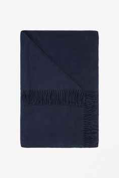 COS image 2 of Wool-cashmere throw in Midnight Blue