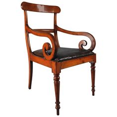 English Regency Open Armchair | From a unique collection of antique and modern armchairs at https://www.1stdibs.com/furniture/seating/armchairs/