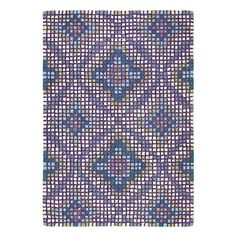 Mirage Rug in Peacock (Geometric Pattern, Rug Sample) | Handmade Area Rugs from Company C (New)