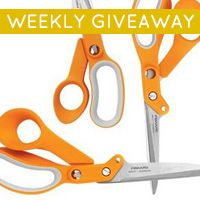 I just entered Spoonflower's latest giveaway, a chance to win Fiskars Amplify™ Shears!