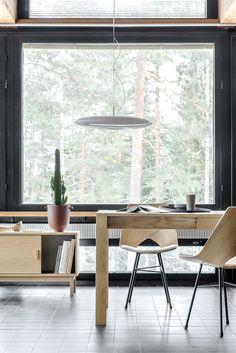 Tapio Anttila Collection - JAT-KO table, LIMI chair, MARS pendant lamp, LINKKI sliding door cabinet