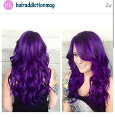 In love with her purple hair