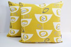 John Lewis Mid Century retro print Seedhead cushion cover - Mustard Yellow by Andshine on Etsy https://www.etsy.com/listing/205530701/john-lewis-mid-century-retro-print