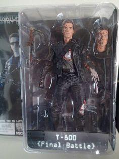 NECA Terminator 2 Action Figure T-800 Final Battle SCHWARZENEGGER