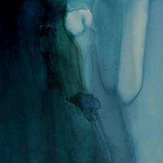 "Mallory Page: Mixed-Media Painting, Abstract, ""Lake Painting II"""