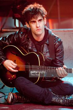 Peter Hayes of Black Rebel Motorcyle Club performs on Fuel Tv's 'The Daily Habit' on February 19, 2010 in Los Angeles, California.