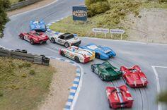 Slot Car ho Le Mans 1970 Matra, Lola, Chevron, Ferrari, Alfa Romeo, Porsche