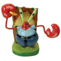 """$3.60-$5.99 SpongeBob SquarePants® 2"""" Mr. Krabs® Aquarium Ornament - Bring a little bit of Bikini Bottom® into your child's aquarium with this SpongeBob SquarePants® 2"""" Mr. Krabs® Ornament. Kid's love SpongeBob® and your child will enjoy their aquarium even more with SpongeBob® and his friends. Eugene H. Krabs® is a red crab, and a cheap & selfish shellfish. He is the owner of the Krusty Krab® di ..."""
