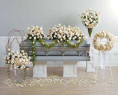 floral garland arrangement for casket | Thoughtful Tribute Casket Arrangement And Companion Pieces