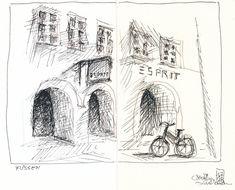 Füssen   In Füssen im Zentrum der Stadt habe ich nochmal ver…   Flickr Paul Flora, City, Drawings, Happy, Centre, To Draw, Cities, Sketches, Ser Feliz