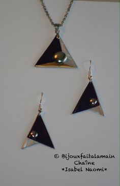 Set nespresso triangle Coffee Pods, Paper Jewelry, Diy Earrings, Metal Working, Jewelery, Triangle, Jewelry Design, Jewelry Making, Crafts
