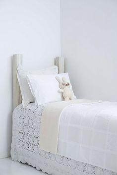 light white quilt