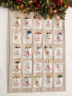 Personalized Embroidered Fabric Advent Calendar | Balsam Hill