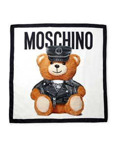 Moschino Silk Bear Scarf Cartoon Wallpaper Iphone, Bear Wallpaper, Chanel Wallpapers, Cute Wallpapers, Fashion Quotes, Blackpink Fashion, Lion Birthday Party, Moschino Bear, Chanel Art