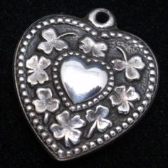 Puffy Heart Charm Vintage Sterling Silver Walter Lampl
