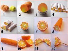 Sugarcraft orange segments