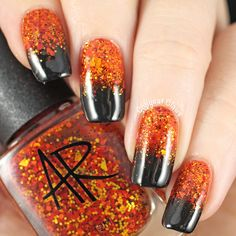 Halloween Gradient Nails