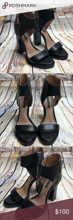 "Rachel Zoe Jamie Platform Sandal In excellent used condition   Sole shows some wear Heel 5""  *these are currently sold out at Nordstrom Rack at $184 Rachel Zoe Shoes Platforms"