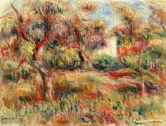 Landscape with Cabin Artwork by Pierre Auguste Renoir Hand-painted and Art Prints on canvas for sale,you can custom the size and frame