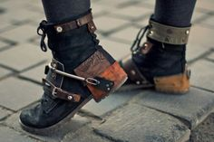 Put some industrial junk on your plain boots.