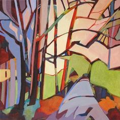 Daily Painting, Tree Canopy, contemporary abstracted trees, painting by artist Carolee Clark