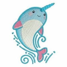 Cute Narwhal 02 machine embroidery designs