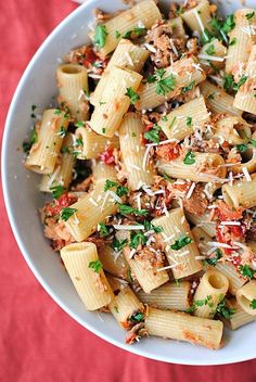 Tuna Rigatoni with Sun-Dried Tomatoes | 29 Unexpectedly Delicious Recipes You Can Make With Canned Food