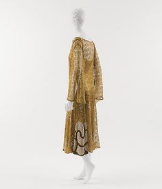 Evening dress Paul Poiret  Date: ca. 1925 Culture: French Medium: metallic, simulated pearls Accession Number: C.I.51.48.4a, b