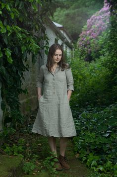 Linen Work Dress by KnockKnockLinen on Etsy