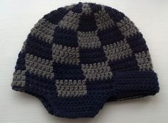 Pattern: Checkered Hunting Hat | Knit A Bit, Crochet Away