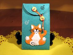Phone Cases – My Zen Cat Felt Phone Case – a unique product by Sonia-Capitanu on DaWanda