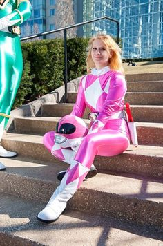 Pink Power Ranger.  Cosplay By: Nicole Marino 'aka' Call a Lady 'aka' Cendrillon. From: Statent Island, New York, USA.