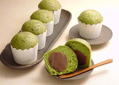 コーヒー餡(あん)の抹茶蒸しパン (レシピNo.1523)|ネスレ バランスレシピ