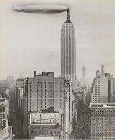 Artista desconocido, Dirigible atracado en el Empire State Building, Nueva York, 1930, el Fondo de fotografía del siglo XX, el Museo Metropolitano de Arte.