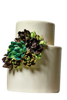Wedding-Cake Porn Almost Too Good To Eat #refinery29  http://www.refinery29.com/new-york-wedding-cakes#slide9  The commitment to botanical detail is stunning. Sugar Succulents, $12 per serving, available at Katherine Sprules Cake Designs.