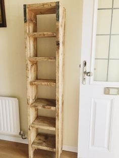 This cute compact piece of furniture constructed from used scaffold boards is sanded and oiled to give a lovely warm industrial texture. This is can be used as a shoe rack, bookshelf and much more it Shoe Rack Tall, Diy Shoe Rack, Shoe Storage, Diy Rack, Shoe Shelve, Shoe Racks, Shoe Cabinet, Diy Wooden Projects, Wooden Diy