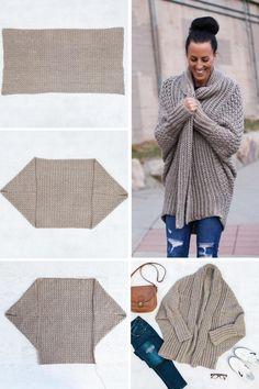 Crochet Coat, Crochet Cardigan Pattern, Crochet Clothes, Modern Crochet Patterns, Knit Patterns, Bridal Shirts, Make And Do Crew, Free Crochet, Sweaters For Women