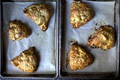 Apple And Cheddar Scones via Brit + Co.