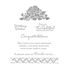 Floral Phrases Wood-Mount Stamp Set by Stampin' Up!