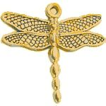 Dragon fly Gold Golden - Charms & Embellishments | Hanko Designs