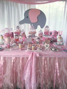 Baby shower themes for gils elephant party planning 35 Ideas for 2019 Baby Shower Niño, Baby Girl Shower Themes, Girl Baby Shower Decorations, Baby Shower Princess, Baby Shower Centerpieces, Shower Party, Baby Shower Parties, Decoracion Baby Shower Niña, Elephant Baby Showers