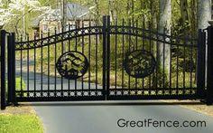 Estate Gate with designer inlays.